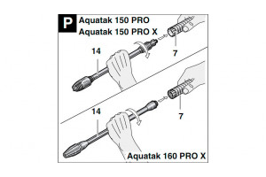 Пенная насадка на Bosch Aquatak 150 Pro/Pro X и 160 Pro X