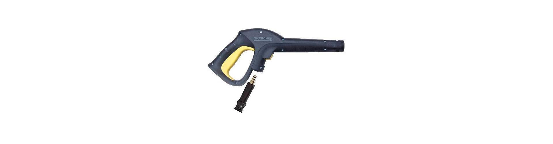 Как у Karcher подключается шланг высокого давления к пистолету ?