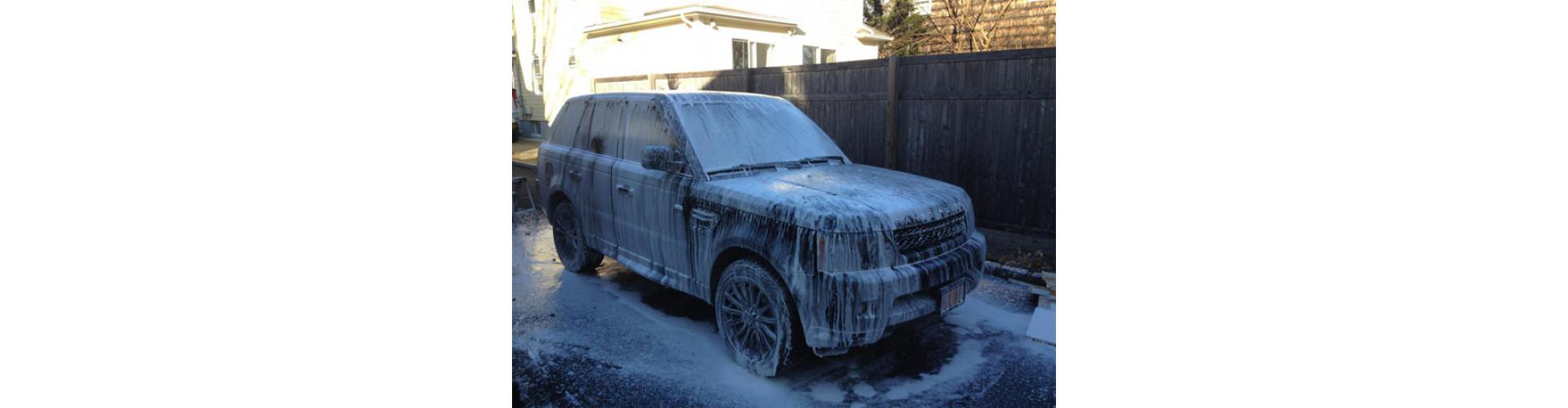 Мойка Range Rover Sport при помощи итальянской пенной насадки