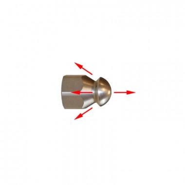 Каналопромывочная форсунка для шланг прочистки струя вперед и три назад