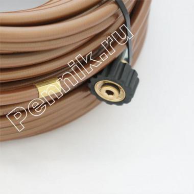 Шланг для прочистки труб и промывки канализации 40 метров, износостойкий, 300 bar, 100 °C