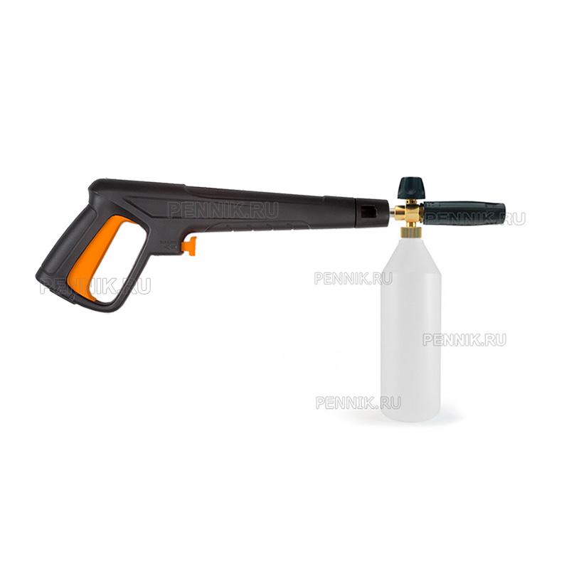 Крепление пенной насадки к пистолету Bort BHR-2200-Pro