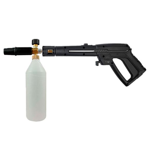 Крепление пенной насадки к пистолету DORN DW-100