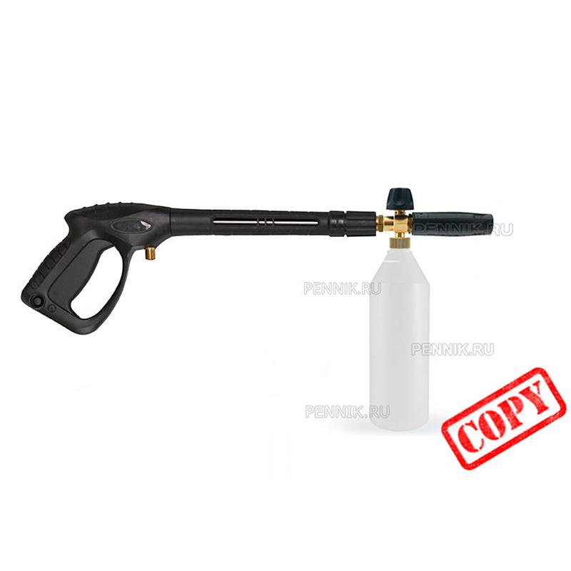 Крепление пенной насадки к пистолету Huter W210i PROFESSIONAL